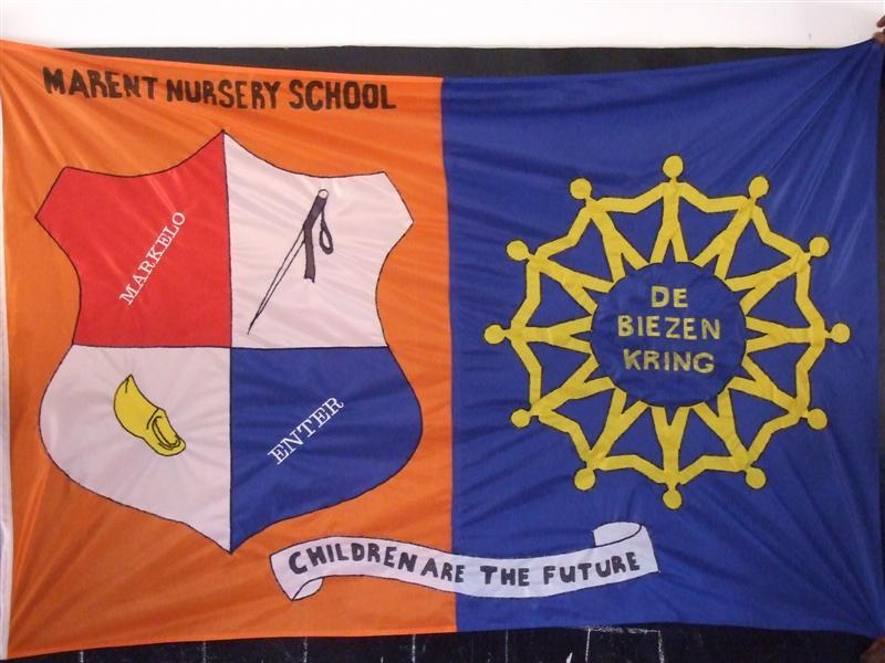 vlag tussen samenwerking stichting Marent en de o.b.s. de Biezenkring
